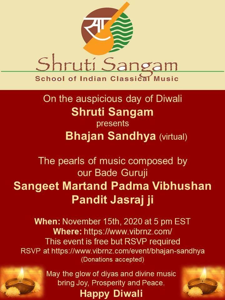 Bhajan sandhya flyer